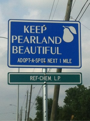 Keep Pearland Beautiful Sign width=